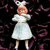 Мини фигурки и статуэтки ручной работы. Ярмарка Мастеров - ручная работа Ватная игрушка Кукла Суок из Трех толстяков. Handmade.