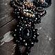 """Колье, бусы ручной работы. Ярмарка Мастеров - ручная работа. Купить Колье из серии """" Ирландская ночь"""". Handmade. Черный"""