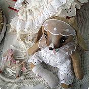Мягкие игрушки ручной работы. Ярмарка Мастеров - ручная работа Бланш. Интерьерная текстильная шебби-зайка.. Handmade.