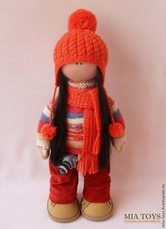 Коллекционные куклы ручной работы. Ярмарка Мастеров - ручная работа. Купить Кукла. Handmade. Рыжий, Кукольный трикотаж, фотоаппарат
