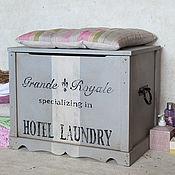 Для дома и интерьера ручной работы. Ярмарка Мастеров - ручная работа Сундук для ванной. Handmade.