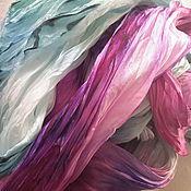 """Аксессуары ручной работы. Ярмарка Мастеров - ручная работа Палантин шелк""""Апрель""""(ну допустим в Египте :) )серия""""Времена года"""". Handmade."""