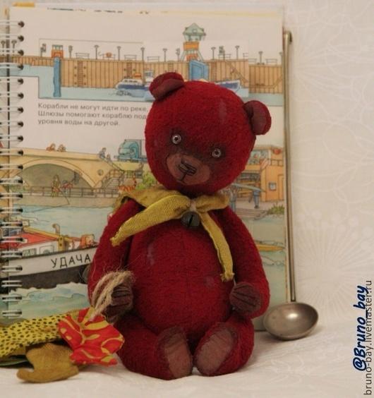 Мишки Тедди ручной работы. Ярмарка Мастеров - ручная работа. Купить К Рождеству 3, кок-морячок. Handmade. Бордовый