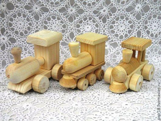 Техника ручной работы. Ярмарка Мастеров - ручная работа. Купить Паровозики, несколько вариантов.. Handmade. Дерево, детские игрушки