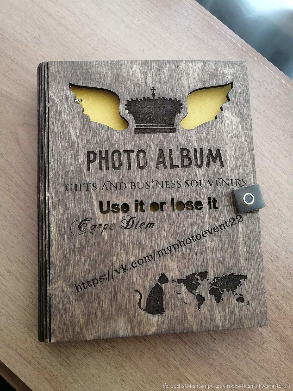 Фотоальбом из дерева с лазерной гравировкой, любой дизайн, Фотоальбомы, Барнаул,  Фото №1