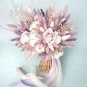 Букеты ручной работы. Ярмарка Мастеров - ручная работа Букет из сухоцветов и стабилизированных цветов. Handmade.