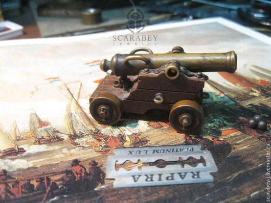 Миниатюрные модели ручной работы. Ярмарка Мастеров - ручная работа. Купить Миниатюрная морская пушка. Handmade. Миниатюрная модель, миниатюра