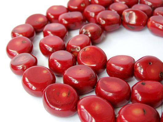 Для украшений ручной работы. Ярмарка Мастеров - ручная работа. Купить Коралл натуральный большие бусины красный. Handmade.