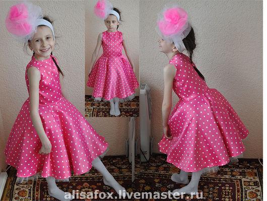 Одежда для девочек, ручной работы. Ярмарка Мастеров - ручная работа. Купить Стиляги - детское платье в горошек. Handmade. Стиляги