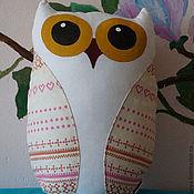"""Куклы и игрушки ручной работы. Ярмарка Мастеров - ручная работа Игрушка-подушка сова """"Кира"""". Handmade."""