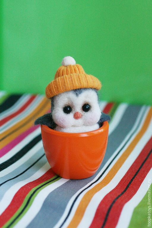 Игрушки животные, ручной работы. Ярмарка Мастеров - ручная работа. Купить Пингвинёнок Эдвард. Handmade. Голубой, Валяние, Новый Год