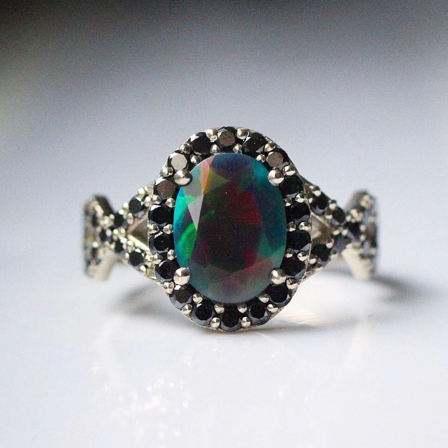 'Siberia' ring with Opal and diamonds, Rings, Moscow,  Фото №1