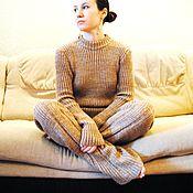 Одежда ручной работы. Ярмарка Мастеров - ручная работа Вязаный брючный костюм. Handmade.