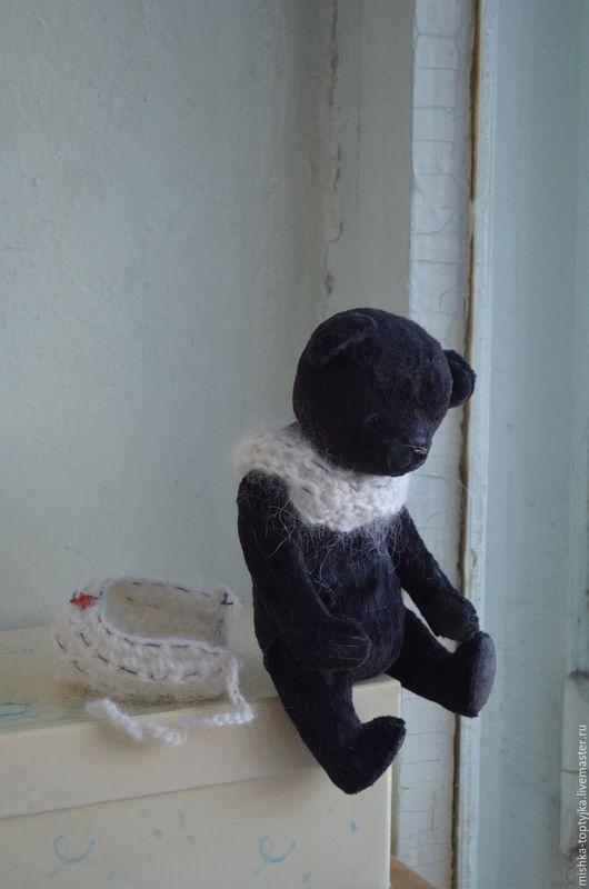 Мишки Тедди ручной работы. Ярмарка Мастеров - ручная работа. Купить мишечка из детства..Шурка.... Handmade. Черный, мишка, опилочки