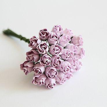 Материалы для творчества ручной работы. Ярмарка Мастеров - ручная работа Бутоны роз полураскрытые Сиреневые 10 шт. Handmade.