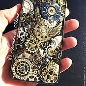 Субкультуры ручной работы. Ярмарка Мастеров - ручная работа Стимпанк чехол на телефон/Steampunk. Handmade.