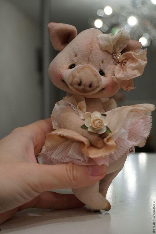 Мишки Тедди ручной работы. Ярмарка Мастеров - ручная работа. Купить Piglet. Handmade. Кремовый, коллекционный, стеклянные глазки