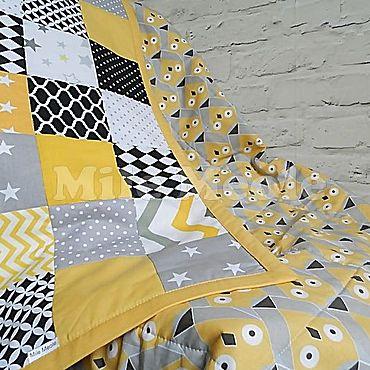 Текстиль ручной работы. Ярмарка Мастеров - ручная работа Лоскутное покрывало в стиле пэчворк. Handmade.