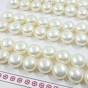 Материалы для творчества handmade. Livemaster - original item Pair of natural semi-drilled 8mm AA pearls (2903-B). Handmade.