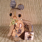 Куклы и игрушки ручной работы. Ярмарка Мастеров - ручная работа Зайчик тедди в штанах на лямках. Handmade.