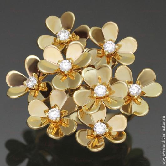 Кольца ручной работы. Ярмарка Мастеров - ручная работа. Купить Кольцо, серьги, кулон Van Cleef & Arpels Frivole Flower. Handmade.