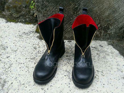 Обувь ручной работы. Ярмарка Мастеров - ручная работа. Купить Ботинки из натуральной кожи. Handmade. Ботинки, ботинки мужские