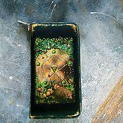 Сумки и аксессуары handmade. Livemaster - original item Leather wallet ACE of Pentacles talisman for money. Handmade.