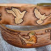 Аксессуары handmade. Livemaster - original item Leather belt with grapes. Handmade.