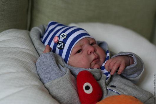 """Для новорожденных, ручной работы. Ярмарка Мастеров - ручная работа. Купить Комплект """"Морячок"""" на выписку.. Handmade. Для новорожденных, скоромама"""