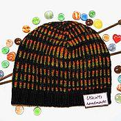 Аксессуары handmade. Livemaster - original item Knitted winter cap unisex. Handmade.