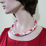 Украшения handmade. Livemaster - original item necklace - harness cherry Blossoms. Handmade.