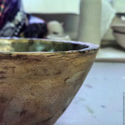 """Пиалы ручной работы. Ярмарка Мастеров - ручная работа. Купить Пиала """"Природа"""". Handmade. Оливковый, керамика ручной работы, посуда"""