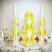 Свадебные свечи ручной работы. Ярмарка Мастеров - ручная работа Свадебные свечи: ручной работы, резные свечи, семейный очаг. Handmade.