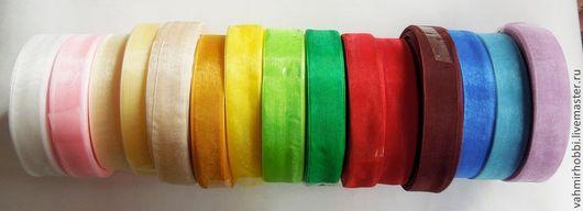 Другие виды рукоделия ручной работы. Ярмарка Мастеров - ручная работа. Купить Лента органза ( 2-2,5см). Handmade.