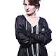 """Большие размеры ручной работы. Шелковая блуза-туника """"Тайская ночь"""" носится в нескольких вариантах. Одежда для женщин шикарных размеров (seanna12). Ярмарка Мастеров."""