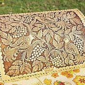 """Хлебницы ручной работы. Ярмарка Мастеров - ручная работа Хлебница из бересты """"Райские птички"""". Хлебница из дерева. Handmade."""