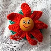 Куклы и игрушки ручной работы. Ярмарка Мастеров - ручная работа Вязаная игрушка Цветок. Handmade.