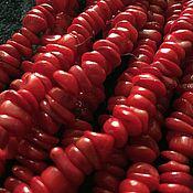 Бусины ручной работы. Ярмарка Мастеров - ручная работа Бусина 10-11 мм Крошка (29), коралл. Handmade.