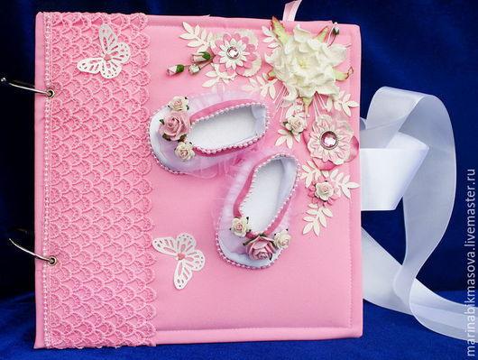 """Подарки для новорожденных, ручной работы. Ярмарка Мастеров - ручная работа. Купить фотоальбом для малыша""""первый год жизни"""". Handmade. Комбинированный"""