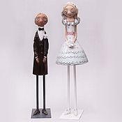 """Подарки к праздникам ручной работы. Ярмарка Мастеров - ручная работа """"Свадьба"""" ,авторские фигуры. Handmade."""