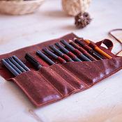 Канцелярские товары handmade. Livemaster - original item Organizer for pencils made of genuine leather