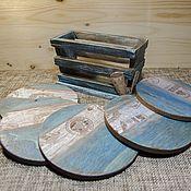 Для дома и интерьера ручной работы. Ярмарка Мастеров - ручная работа Подставки чашек и кружек, набор Винные пробки. Handmade.