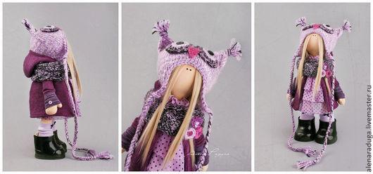 """Человечки ручной работы. Ярмарка Мастеров - ручная работа. Купить """"СОВЫ в ЯБЛОКАХ"""". Handmade. Бирюзовый, Праздник, зима, кукла текстильная"""