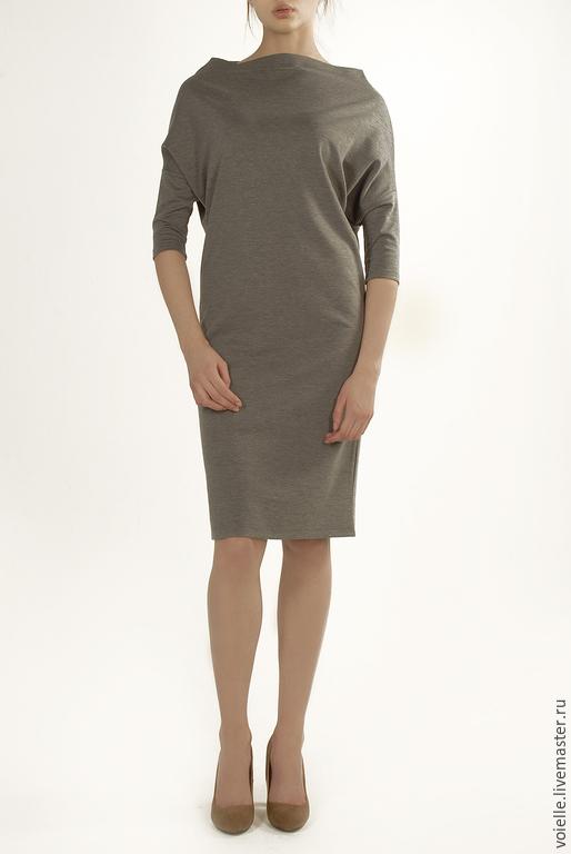 Платье трансформер `Ромб`, платье женское, платье Must Have платье из джерси вискоза хлопок, платье из вискозы платье серое платье на каждый день