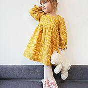 """Платья ручной работы. Ярмарка Мастеров - ручная работа Платье из теплого хлопка """"Желтый снежник"""". Handmade."""