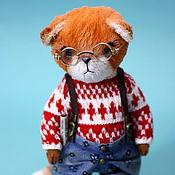 Тедди Зверята ручной работы. Ярмарка Мастеров - ручная работа Тедди лис Саймон. (Teddy fox). Handmade.
