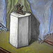 Картины и панно handmade. Livemaster - original item Painting with pastels and charcoal Triptych. Hexagon. No. 1. Handmade.
