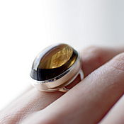 Украшения handmade. Livemaster - original item Ring with smoky quartz