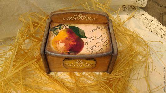 """Корзины, коробы ручной работы. Ярмарка Мастеров - ручная работа. Купить Короб «Груша"""". Handmade. Короб для хранения, оранжевый"""