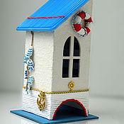 Для дома и интерьера ручной работы. Ярмарка Мастеров - ручная работа Чайный домик в морском стиле. Handmade.
